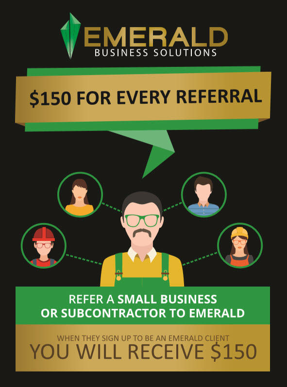 Refer a small business to Emerald for a free month of accounting services